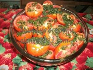 Маринуем помидоры быстрого приготовления