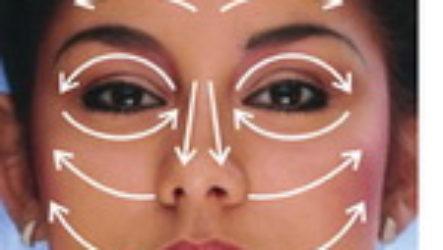 Как делать массаж на коже лица
