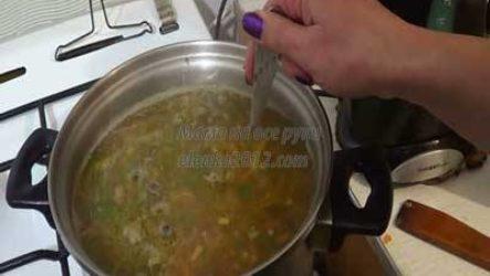 Суп гречневый с мясом