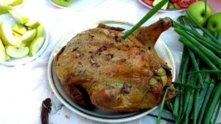 Курица с яблоками, запекаем в духовке