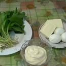 Продукты для салата из черемши